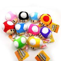 Wholesale Super Mario brothers mushroom Plush Doll key button multi color brother anime stuffed toys