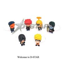 Wholesale sets Naruto Battle Sasuke Gashapon mini PVC Figure Set Collection Model Toy per set