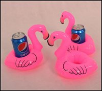 Wholesale 2015 kids cute flamingo cola Can holder swimming Floating cellphone cushion bath beach party Decoration kids gift J071302 DHL FREESHIP