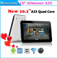 2015 Date 10 pouces Allwinner A33 capacitif Quad Core Tablet PC Android 4.4 1 Go 8 Go 1024 * 600 Dual Camera Bluetooth Wifi bon marché Tablet 002605