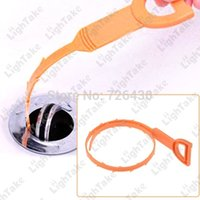 drain clearing - 3 Hair Clog Drain Sink Remover Clear Tool Hair Removal Drain Dredge Pipe Sewer Cleaner Hook Tool