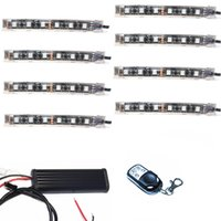 accent decorations - 8pcs Color SMD5050 RGB LED Wireless Remote Control Lights Kits For Cycle Accent Lighting