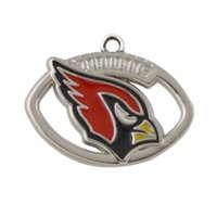 beads arizona - Popular Single Side Metal Rhodium Enamel Arizona Cardinals Team Logo Jewelry Charms