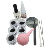 Wholesale new Individual Eyelash Extension Black False Eyelash Pump Tweezer Tool Set