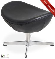 Wholesale MLF Arne Jacobsen Egg Chair Ottoman Imported Italian Leather Hand Sewing Adjustable Tilt High Density Foam Swivel