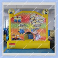 backyard play - On Sale Inflatable Minions Bouncer Good Quality Inflatable Minions Castle DHL CE UL certificated Blower included