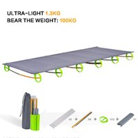 Wholesale BRS Brand Sturdy Comfortable Ultralight Portable Aluminium Alloy Outdoor Camping Cot Camp Folding Tent Bed Office Lunch Break Bed