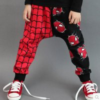 c033 - Spring Autumn Children Casual Pants Cartoon Spider Man Kids Harem Pants Cotton Boy Girl Trousers Child Sport Pants C033