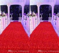 Wholesale New Romantic Wedding Centerpieces Favors D Rose Petal Carpet Aisle Runner For Wedding Party Decoration Supplies Color Available