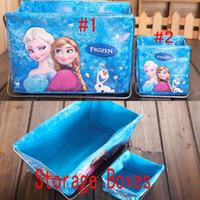 Wholesale Fashion Storage Box Frozen Elsa Anna Debris Bag Baby Kids Decorations Foldable Storage Boxes Storage Boxes Children XMAS Gift GZ GD75