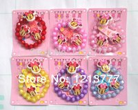 job lots - New Fashion Job Pack Lovely minnie Mouse Girls Bracelet Hair Clips Hair Accessories