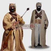 adult male devil costumes - Star Wars Tusken Raider Adult Men Movie Costume Carnival Party Cosplay Costume Custom Made Not include the mask and Canes
