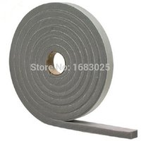 adhesive weather strip - Waterproof Adhesive Foam Weather Draught Excluder Seal Door Window Strip Roll D Type Rubber Hollow Air Sealed Seal Strip m
