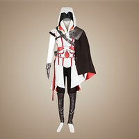 Wholesale Ezio Cosplay Costume Assassins Creed Cosplay Costumes Various Sizes Japan Anime Cosplay Costume Sets Classic Design