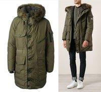 Wholesale Fall Mon doudoune winter anorak duck down jacket with fur trim long military parka men doudoune homme hiver plumifero hombre cappotto
