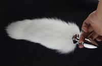 butt plug tail - White Fox Tail butt plug cm Anal Plug Metal Butt Plug Anal Sex Toy cm cm cm plug for choice