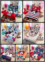 baby modern bedding - 100 Cotton Cartoon Bedding Sets Cartoon Printing Bedclothes Baby Children Kids Bed Linen King Queen Twin Full Duvet Cover Set