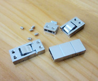 Wholesale 8MM double buckle DIY jewelry accessories bracelets clasp alloy fittings diy charms