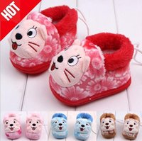 Wholesale New winter boots toddler shoes infant baby cotton thick cotton padded shoes and trade SKU A004