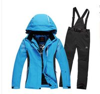 amd fashion - 2015 New style Women amd men Ski Suit Fashion Colorful Match Snowboard Warm Ski Jacket Pants Windproof Waterproof