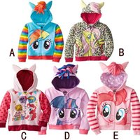 Wholesale 2015 new cartoon little my pony girls coat children spring autumn printed zipper outerwear cute baby leisure jackets VQW10