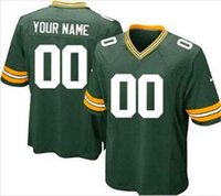 packers jersey - Custom made can mix order American football Packers men customized stitched elite jersey any name any number size M XL
