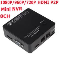Wholesale Black CH Mini NVR Security IP Camera Recorder Surveillance Cloud P2P ONVIF HDMI E SATA HDD Connection USB P P P HD