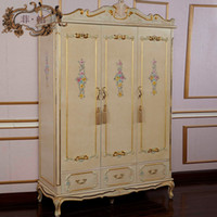 No solid wood wardrobes - royal luxury bedroom furniture hand carving solid wood baroque wardrobe