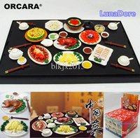 Wholesale ORCARA Japanese Kitchen Food Miniature Dollhouse Chinese Food Cuisine Re ment Size Set of Dolls Accessories