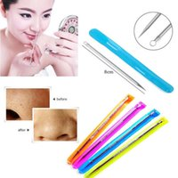Wholesale 5Pcs Blackhead Remover Cleaner Tool Acne Blemish Needle Pimple Spot Extractor Beauty Makeup Facial Face Cleaning Tools