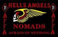Wholesale HELLS ANGELS MC Flag hot sell goods X5FT x150cm Banner brass metal holes