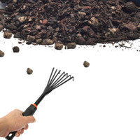 Wholesale Garden Hand Rake Small Gardening Tools Nine Tooth Clean Rakes Graders Loose Soil Cleaning Lawn Defoliation