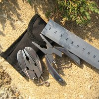 Wholesale 1 pc Portable Multi Function Folding Pocket Tools Plier Knife Keychain Screwdriver