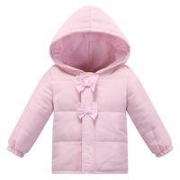 bebe winter coats - Soft Infant Fashion Autumn Winter European Style Baby Cotton Jacket Brand Pink Baby Girl Coat Newborn Clothing Bebe Clothes