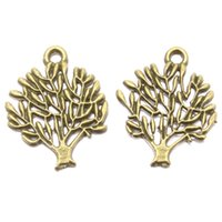 Wholesale 180pcs Zinc Alloy Jewelry Findings NEW Arrival Pendant For Jewelry Making Tree Shape Charms mm