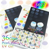 nail kit uv - 3677X sets CANNI Factory GDCOCO Brand color Pearl UV Gel Nail Kit