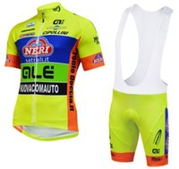 Wholesale cool Good quality ALE Ropa Ciclismo Short Sleeve Cycling Jersey and Cycling Bib Shorts Kit bicycle Clothing sets yellow