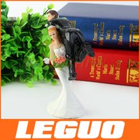 cake decoration - Funny Action Bride Lifting Groom Couple Figurine Wedding Decoration Cake Topper