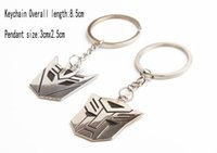 Wholesale 2015 Hot Selling Fashion Accessories Cool Zinc Alloy Transformers Face Shape Couple Keychain Drop shipping