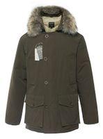 arctic coat - Wool rich Man s down jackets Arctic Anorak men winter outddoor coats armygreen man arktiska anorak ner parkas