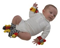 Wholesale latest edition lamaze socks Wrist Rattles Ankle rattles bell colorful cute and adorable