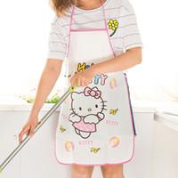 Wholesale B08 cute cartoon Ms Princess waterproof oil kitchen cooking aprons Korean fashion sleeveless bodice