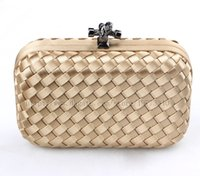 Wholesale 2014 new fashion desigual evening bag for women fabric handmade knitted with chain in different colors handbag by dhl