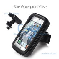 bicycle packing box - Water Resistant Bike Bicycle Handlebar Mount for iPhone C S Degree Rotating Waterproof Cycling Holder bracket Box Pack