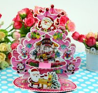 Wholesale New Cheap Christmas decorations D Christmas card Three dimensional Creative Christmas greeting cards Christmas gifts given to teacher