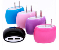 apple bread - 2016 Steamed Bun Bread dual US Plug USB Wall Charger Adapter Home Charger For iphone s Samsung Galaxy S6 S7 Charger