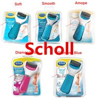 diamond tools - 2015 Scholl Velvet Soft Express Pedi Electric Feet File Health Beauty Foot Care Tool Foot Cares Supply Smooth Amope Diamond Pink Blue
