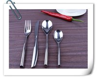 Wholesale Stainless Steel Flatware Sets Durable Cutlery Table Fork and Knife and Spoon Elegant Dining Set on Sale CT