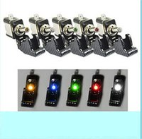Wholesale New arrival Carbon Fiber SPST Car Auto Cover Toggle Switch V A LED