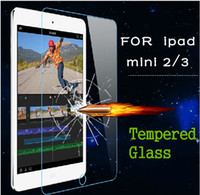Wholesale Tempered Glass H MM Film Tablet PC Screen Protector Explosion proof for Ipad Air Air Mini Mini Mini With Retail Package DHL